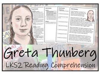 LKS2 Literacy - Greta Thunberg Reading Comprehension Activity