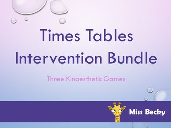 Times Tables Maths Intervention Bundle - 3 Games Included