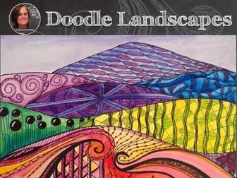 Art Lesson - Doodle Landscape - Elements of Art Project - Pattern Landscapes