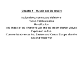 OCR A Level History - Russia and its rulers 1855-1964 FULL NOTES A* QUALITY