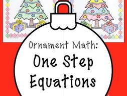 Solving Equations Christmas Math Surprise One Step Equations with Negatives Coloring Page
