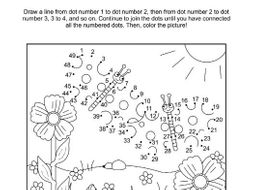 Butterflies Connect The Dots Puzzle And Coloring Page By