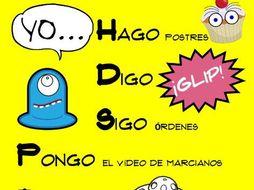 Fun Spanish YO GO Poster - Verbos Irregulares en la forma de YO - español *FREE *Gratis