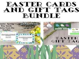 Easter Cards and Gift Tags Bundle