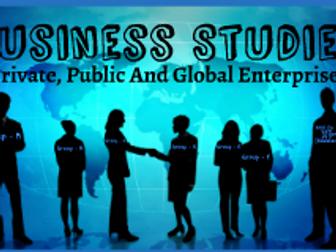 Private public and global enterprises