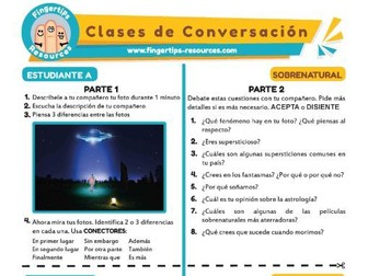 Sobrenatural - Spanish Speaking Activity