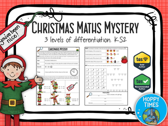 "Winter /Christmas Maths ""Murder"" Mystery (revision)"