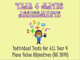 Year 4 Place Value Assessments