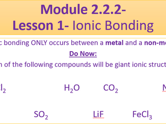 A Level Chemistry OCR A Module 2.2.2   Teaching Resources