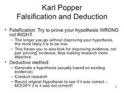 Popper's falsificationist approach