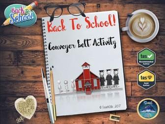 back To School : Conveyor Belt - Subjects