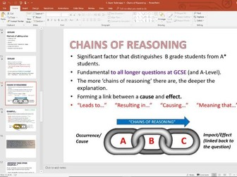 Exam Technique Lesson 1 - Chains of Reasoning  (Explain) - GCSE Edexcel Business