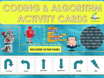 Coding and Algorithm Activity Cards Bundle