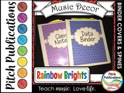 let s get organized rainbow brights music binder covers amazing