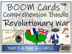 American Revolutionary War - UKS2 BOOM Cards™ Comprehension Bundle