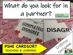 Look for in a partner Card Sort PSHE