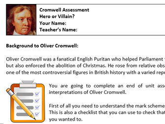 Oliver Cromwell Assessment