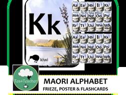 Maori Alphabet Frieze, Flashcards and Poster Beautiful Toi Toi Design Preschool Kindy