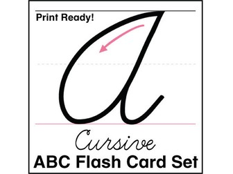 ESL Flash Cards-ABCs Cursive