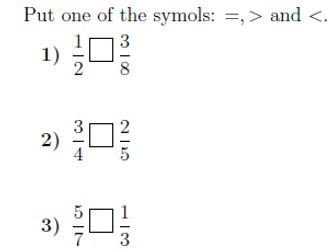 Comparing fractions worksheet (with solutions)