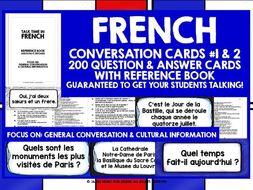 FRENCH SPEAKING PRACTICE MINI-BUNDLE #1