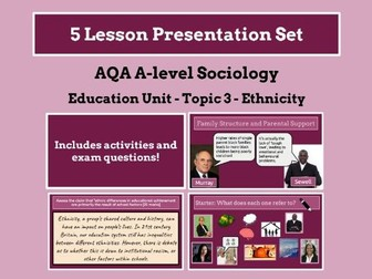 Ethnicity and Education - AQA A-level Sociology - Education Unit - Topic 3