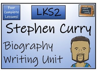 LKS2 Literacy - Stephen Curry Biography Writing Activity