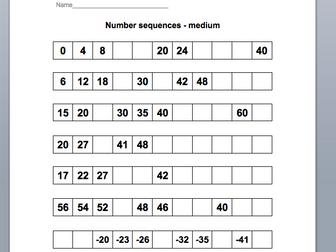 KS1 Number Sequences
