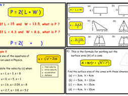 Substitution into Formulae. (pptx)