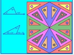 exterior angle theorem coloring activity answer key