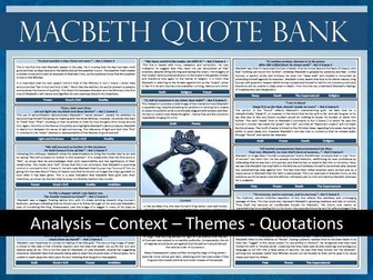 Macbeth A3 Quote Bank