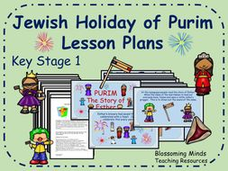 Jewish holiday of Purim - 3 Lesson Plans - KS1