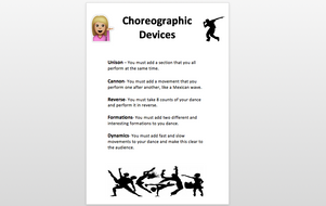 Choreographic Devices Dance By Ruthhk Teaching Resources