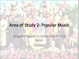 AQA GCSE Music (Teaching from 2016) - Sgt Pepper's (Updated for Sept 2019)