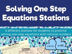Solving One Step Equations Stations
