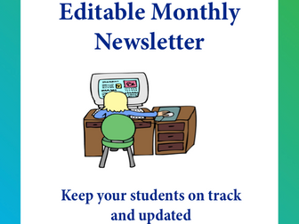 editable newsletter templates volume 4 by kitcelcorner teaching