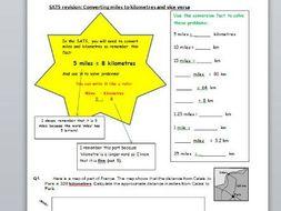 Year 6 SATS revision - Roman numerals and miles to kilometres conversion