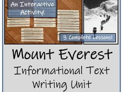 UKS2 Geography - Mount Everest Informational Text Writing Unit