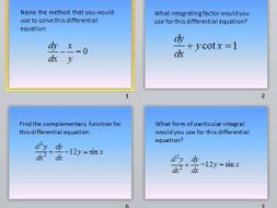 Edexcel FP2 Differential Equations Resource Pack