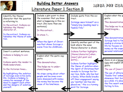 AQA New Spec Lit -A Christmas Carol Building Better Answer Grid   Teaching Resources