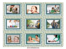 Parenting Activities Cards 4 Pages = 36 Cards