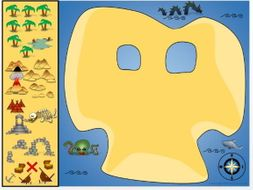 Pirates - Create your own treasure island map! Adventure Stories - KS1 Drag and Drop