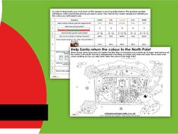 Christmas KS2 Help Santa Save Christmas! Maths Worksheets