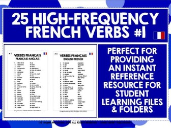 FRENCH VERBS REFERENCE MAT #1