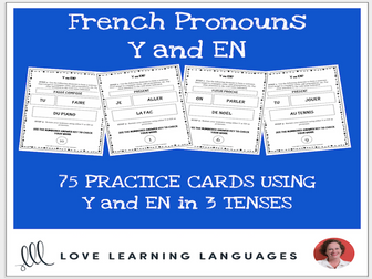 French Pronouns Y and EN - 75 Practice Cards