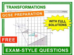 GCSE 9-1 Exam Question Practice (Transformations)
