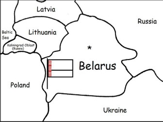 BELARUS - Printable handouts with map and flag