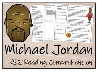 LKS2 Literacy - Michael Jordan Reading Comprehension Activity