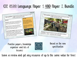 Cambridge IGCSE 0500  Paper 1 and Paper 2 Bundle