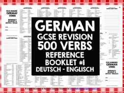 gcse german 500 german verbs reference book 1 by livelylearning teaching resources. Black Bedroom Furniture Sets. Home Design Ideas